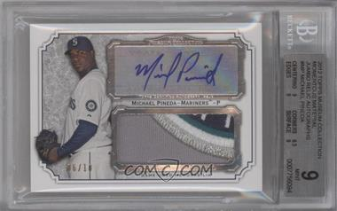 2012 Topps Museum Collection - Momentous Material Jumbo Relic Autographs #MMJAR-MP - Michael Pineda /10 [BGS 9]