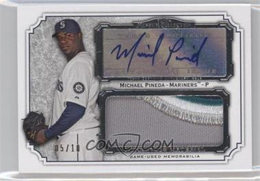 2012 Topps Museum Collection - Momentous Material Jumbo Relic Autographs #MMJAR-MP - Michael Pineda /10
