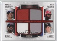 Adrian Gonzalez, Ryan Howard, Albert Pujols, Mark Teixeira /75