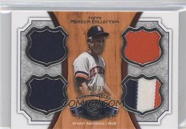 2012 Topps Museum Collection - Primary Pieces Quad Relics Legends #PPQRL-SA - Sparky Anderson /25