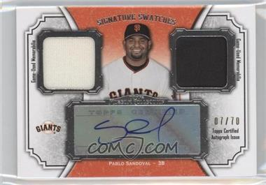 2012 Topps Museum Collection - Signature Swatches Autograph Dual Relics #SSADR-PS - Pablo Sandoval /70