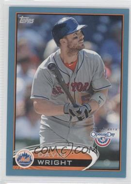 2012 Topps Opening Day - [Base] - Blue #187 - David Wright /2012