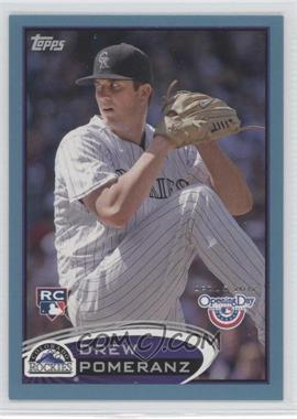 2012 Topps Opening Day - [Base] - Blue #89 - Drew Pomeranz /2012