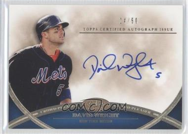 2012 Topps Tier One - Crowd-Pleaser Autographs - [Autographed] #CPA-DW - David Wright /50