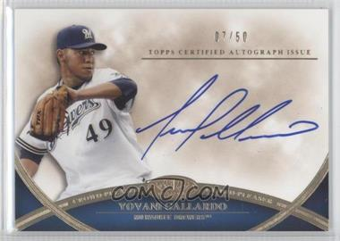 2012 Topps Tier One - Crowd-Pleaser Autographs - [Autographed] #CPA-YG - Yovani Gallardo /50