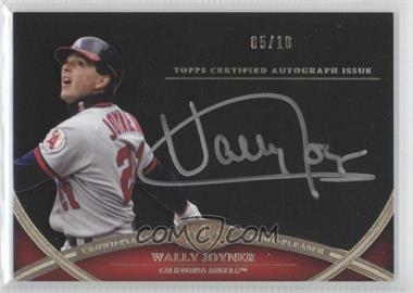 2012 Topps Tier One - Crowd-Pleaser Autographs - Silver Ink [Autographed] #CPA-WJ - Wally Joyner /10