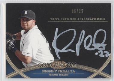 2012 Topps Tier One - Crowd-Pleaser Autographs - White Ink [Autographed] #CPA-N/A - Jhonny Peralta /25