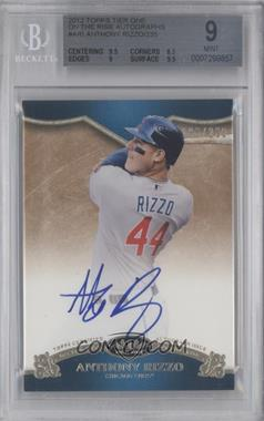 2012 Topps Tier One - On the Rise Autograph - [Autographed] #OR-ARI - Anthony Rizzo /235 [BGS 9]