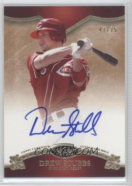 2012 Topps Tier One - On the Rise Autograph - [Autographed] #OR-DST - Drew Stubbs /75