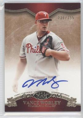 2012 Topps Tier One - On the Rise Autograph - [Autographed] #OR-VW - Vance Worley /355