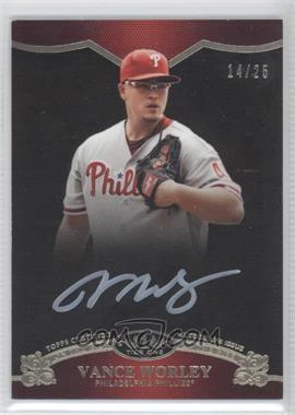 2012 Topps Tier One - On the Rise Autograph - White Ink [Autographed] #OR-VW - Vance Worley /25