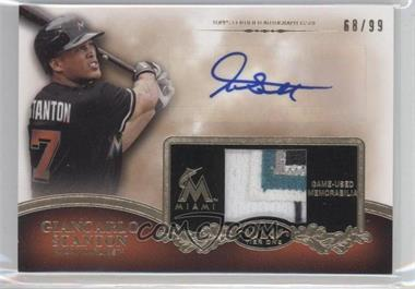 2012 Topps Tier One - Top Shelf Autographed Relics - [Autographed] #TSAR-GS - Giancarlo Stanton /99