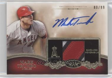 2012 Topps Tier One - Top Shelf Autographed Relics - [Autographed] #TSAR-MT - Mark Trumbo /99