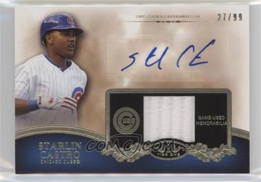 2012 Topps Tier One - Top Shelf Autographed Relics - [Autographed] #TSAR-SC - Starlin Castro /99