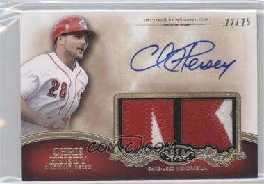 2012 Topps Tier One - Top Shelf Autographed Relics - Dual [Autographed] #TSDAR-CH - Chris Heisey /25