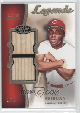 2012 Topps Tier One - Top Shelf Legends Relics - Dual #TSDL-JM - Joe Morgan /15