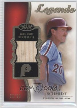 2012 Topps Tier One - Top Shelf Legends Relics #TSL-MS - Mike Schmidt /50