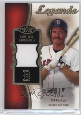 2012 Topps Tier One - Top Shelf Legends Relics #TSL-WB - Wade Boggs /50