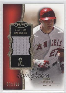2012 Topps Tier One - Top Shelf Relics #TSR-MTR - Mike Trout /399