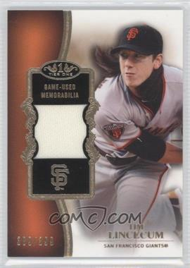 2012 Topps Tier One - Top Shelf Relics #TSR-TL - Tim Lincecum /399
