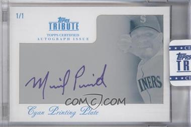 2012 Topps Tribute - Autograph - Printing Plate Cyan Encased [Autographed] #TA-MP1 - Michael Pineda /1