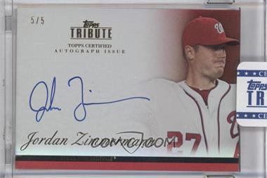 2012 Topps Tribute - Autograph - Red [Autographed] #TA-JZ1 - Jordan Zimmermann /5