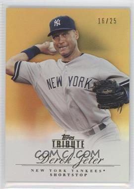 2012 Topps Tribute - [Base] - Gold #35 - Derek Jeter /25