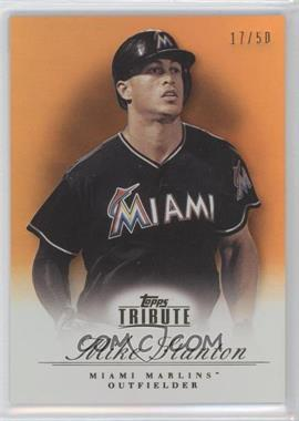 2012 Topps Tribute - [Base] - Orange #79 - Giancarlo Stanton /50