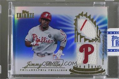 2012 Topps Tribute - Championship Material Relic - Blue Encased #CM-JR - Jimmy Rollins /50 [Uncirculated]
