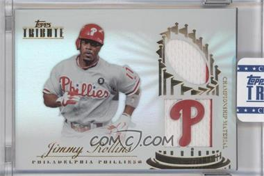 2012 Topps Tribute - Championship Material Relic - Encased #CM-JR - Jimmy Rollins /99