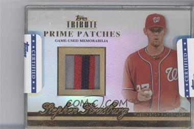 2012 Topps Tribute - Prime Patches #PP-SS - Stephen Strasburg /24