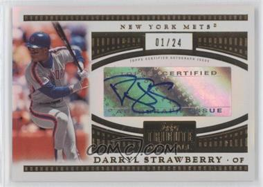2012 Topps Tribute - Tribute to the Stars - [Autographed] #TSA-DS - Darryl Strawberry /24