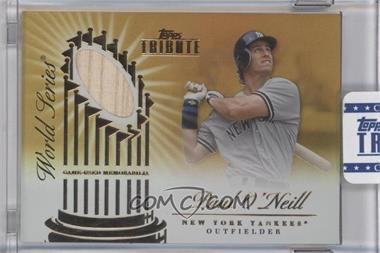 2012 Topps Tribute - World Series Swatches - Gold Encased #WSS-PO - Paul O'Neill /15