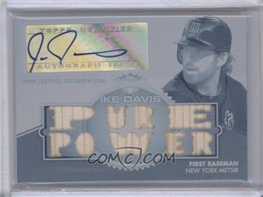 2012 Topps Triple Threads - Autographed Relics - White Whale Printing Plate Cyan #TTAR-139 - Ike Davis /1