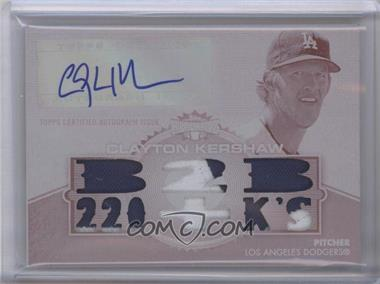 2012 Topps Triple Threads - Autographed Relics - White Whale Printing Plate Magenta #TTAR-137 - Clayton Kershaw /1