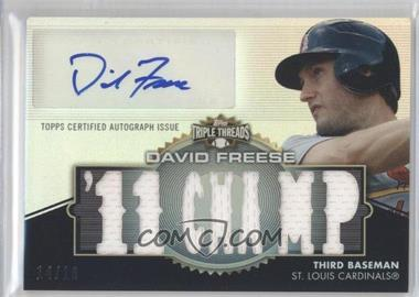 2012 Topps Triple Threads - Autographed Relics #TTAR-168 - David Freese /18