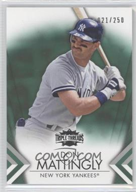 2012 Topps Triple Threads - [Base] - Emerald #21 - Don Mattingly /250
