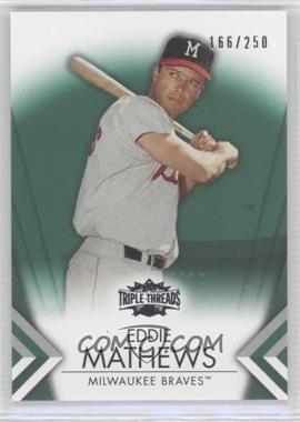2012 Topps Triple Threads - [Base] - Emerald #57 - Eddie Mathews /250