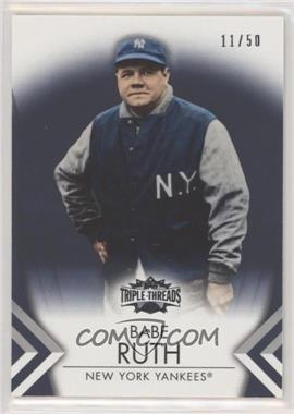 2012 Topps Triple Threads - [Base] - Onyx #11 - Babe Ruth /50