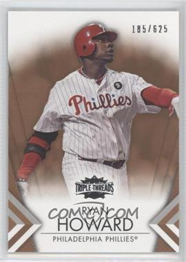2012 Topps Triple Threads - [Base] - Sepia #83 - Ryan Howard /625
