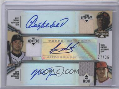 2012 Topps Triple Threads - Combos Autographed Relics #TTARC-9 - Yoenis Cespedes, Jesus Montero, Mike Trout /36