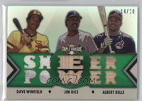 Dave Winfield, Jim Rice, Albert Belle /18