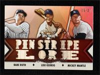 Babe Ruth, Lou Gehrig, Mickey Mantle #/27
