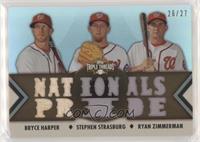 Bryce Harper, Stephen Strasburg, Ryan Zimmerman #/27
