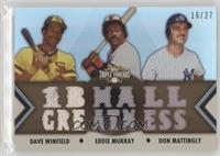 Dave Winfield, Eddie Murray, Don Mattingly #/27