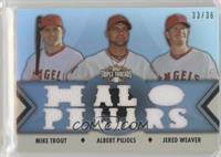 Mike Trout, Albert Pujols, Jered Weaver /36