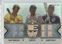 Albert Belle, Dave Winfield, Jim Rice /36