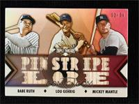 Babe Ruth, Lou Gehrig, Mickey Mantle #/36