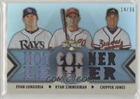 Evan Longoria, Ryan Zimmerman, Chipper Jones /36