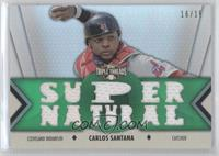 Carlos Santana Baseball Cards Matching Topps Triple Threads Baseball